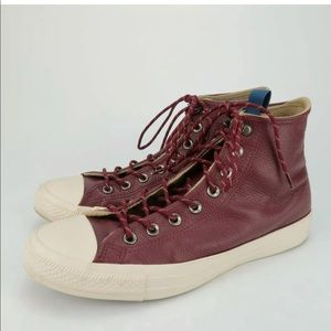 Converse Chuck Taylor Burgundy Leather Shoes